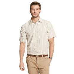 Striped Pucker Casual Button-Down Shirt - Men by Van Heusen in Jersey Boys