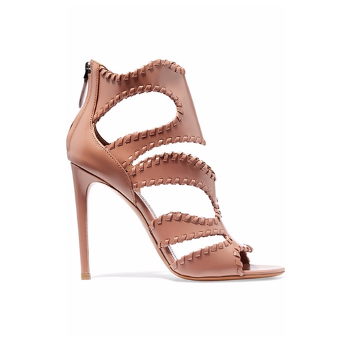 Cutout Glossed-Leather Sandals by Alaia in Keeping Up With The Kardashians - Season 12 Episode 12