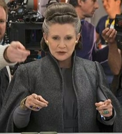 Custom Made General Organa Costume by Michael Kaplan (Costume Designer) in Star Wars: The Last Jedi
