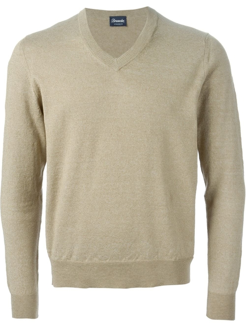 V-Neck Sweater by Drumohr in Mr. & Mrs. Smith