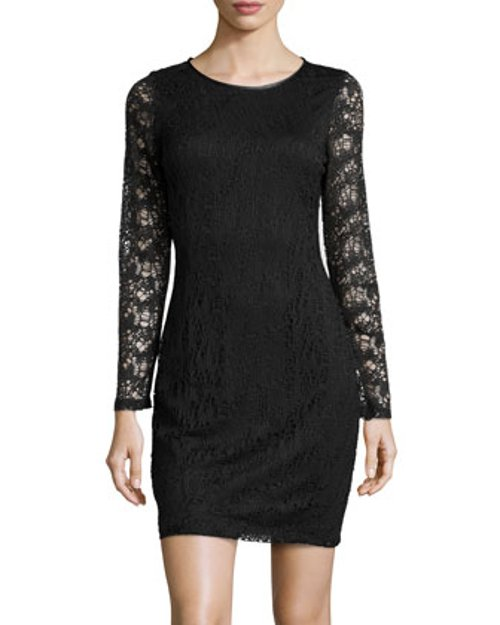 Lace Dress with Faux Leather Trim by Marc New York by Andrew Marc in Need for Speed