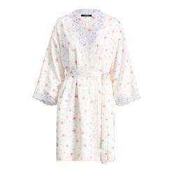 Floral-Print Satin Kimono Robe by Ralph Lauren in American Made