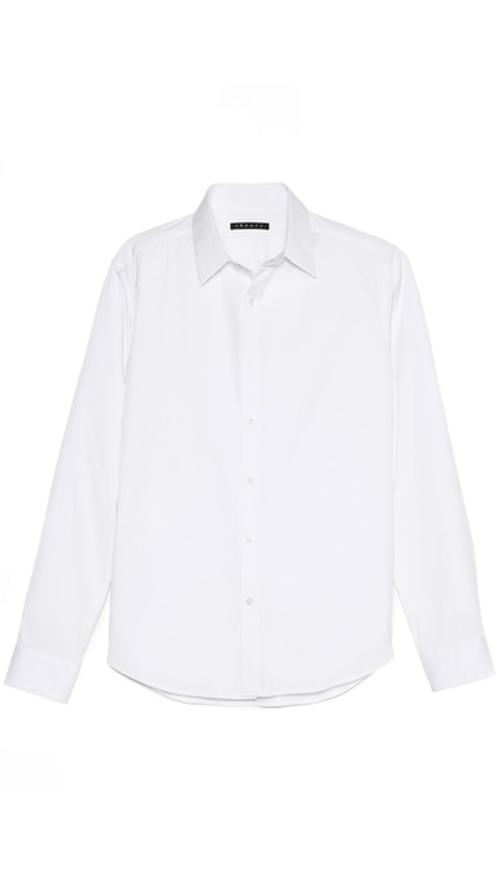 Slyvain Solid Dress Shirt by Theory in Interstellar