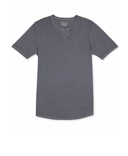Split-Neck Slub T-Shirt by Lucky Brand in Flaked