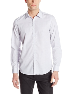 Men's Micro-Check Button-Front Woven Shirt by Calvin Klein in Master of None