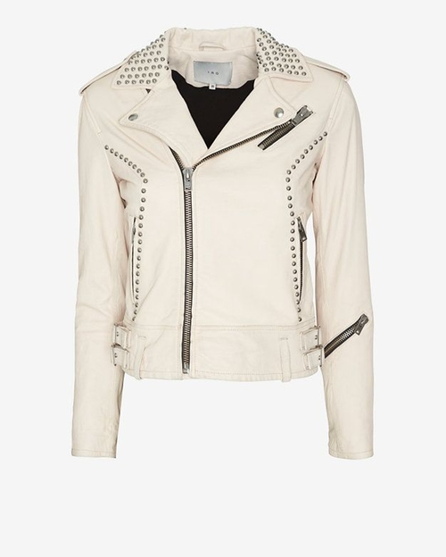 Wenda Studded Leather Jacket by IRO in Pretty Little Liars - Season 7 Episode 6