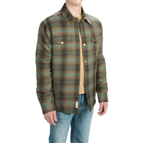 Plaid Shirt Jacket by Stetson in The Ranch -  Looks