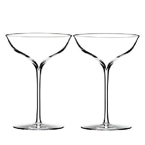 Elegance Champagne Belle Coupe Glass, Pair by Waterford in The Great Gatsby