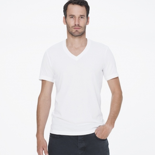 Short Sleeve V-Neck T-Shirt by James Perse in Furious 7