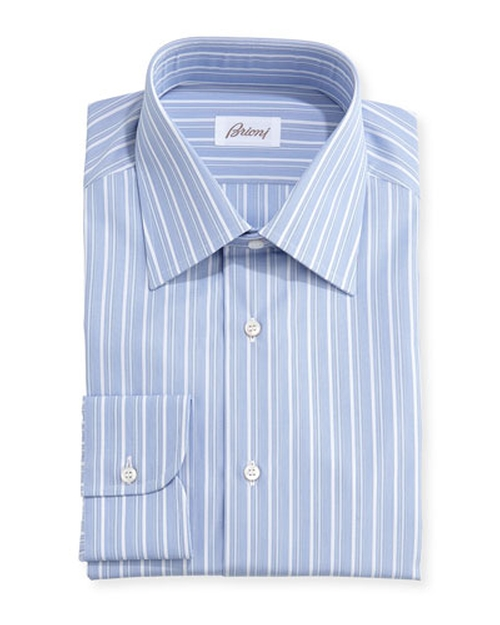 Blue Striped Dress Shirt by Brioni in Ballers - Season 1 Episode 10