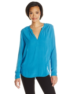 Rayon Challis Blouse by Velvet By Graham & Spencer in Rosewood
