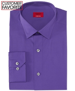 Slim-Fit Solid Dress Shirt by Alfani in Marvel's The Avengers