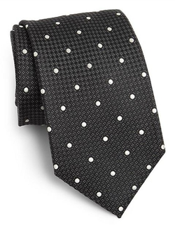 Dot Print Silk Tie by Saks Fifth Avenue Collection in We Are Your Friends