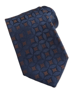 Medallion Pattern Silk Tie by Charvet in Scandal