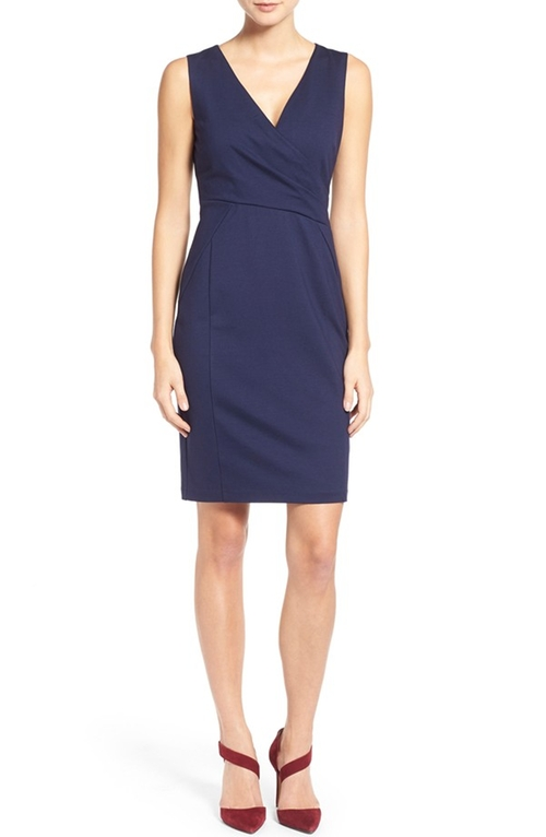Faux Wrap Ponte Sheath Dress by Halogen in Scandal - Season 5 Episode 12