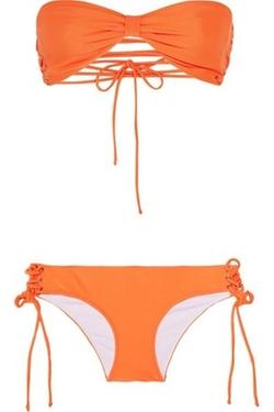 Nicole Laceup Bandeau Bikini by Shimmi in Spring Breakers