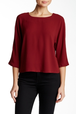 3/4 Sleeve Strappy V-Back Blouse by Valette in Pretty Little Liars