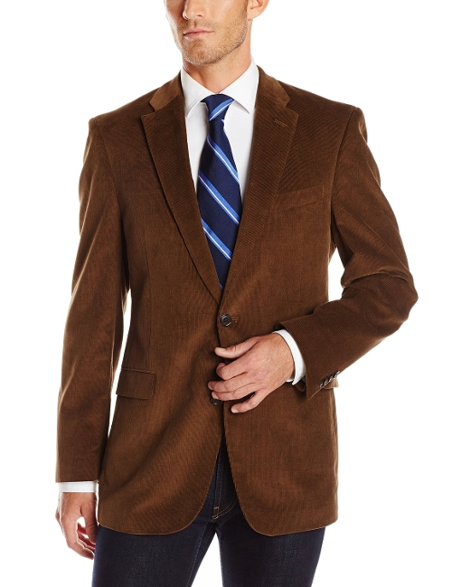 Vicuna Toffee Corduroy Blazer by Tommy Hilfiger in Barely Lethal