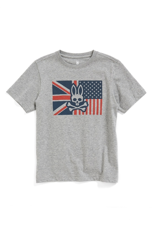Big boys Flag Graphic T-Shirt by Psycho Bunny in Max