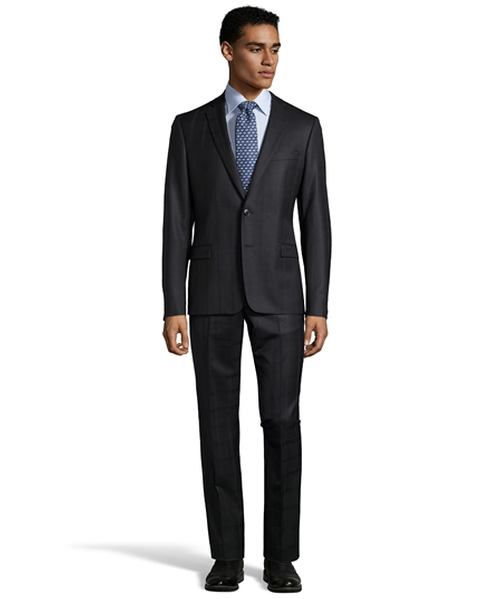 Plaid Patterned Two-Piece Wool Suit by Versace in The Night Manager - Season 1 Looks