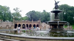 New York City, New York by Bethesda Terrace and Fountain in Begin Again