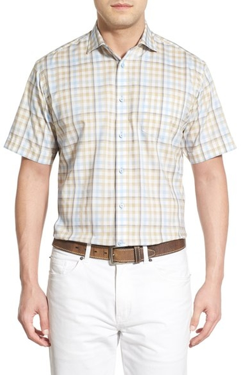 Check Short Sleeve Sport Shirt by Thomas Dean in Modern Family