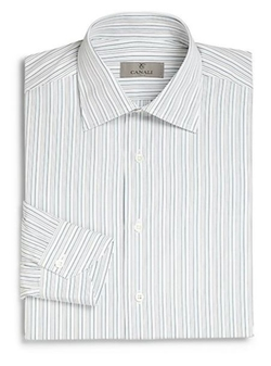 Regular-Fit Striped Dress Shirt by Canali in Absolutely Anything