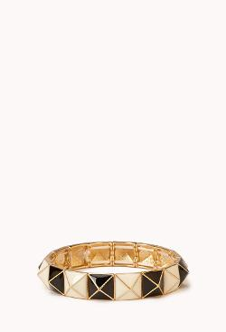 Colorblocked Pyramid Bracelet by Forever 21 in Neighbors
