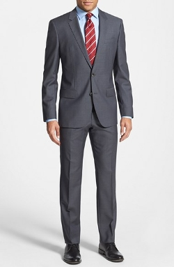 'Huge/Genius' Trim Fit Wool Suit by Boss Hugo Boss in Paper Towns