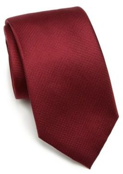 Solid Silk Tie by Saks Fifth Avenue Collection in Guilt
