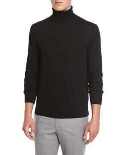 Cashmere-Silk Turtleneck Sweater by Neiman Marcus in Assassin's Creed