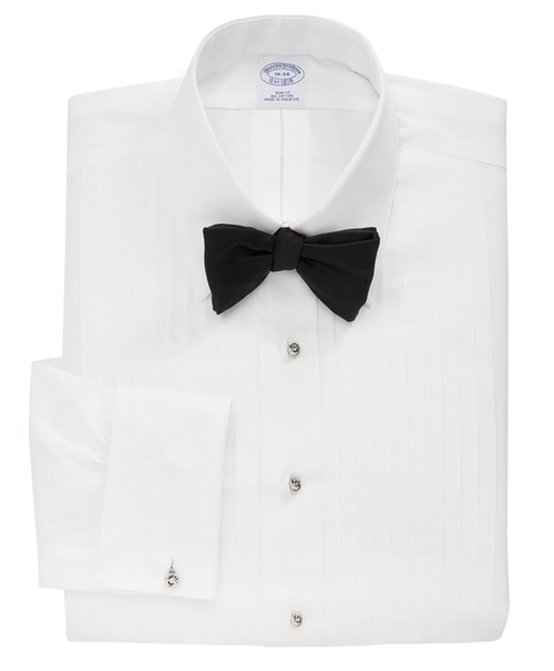 Regent Fit Ten-Pleat Tennis Collar Tuxedo Shirt by Brooks Brothers in Scandal - Season 5 Episode 9