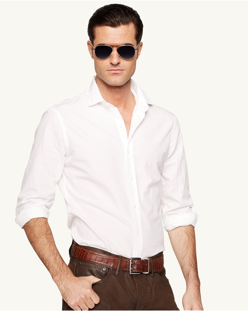 Poplin Sloan Sport Shirt by Ralph Lauren Black Label in Crazy, Stupid, Love.