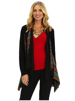 Cardi With Multi Trim Sweater by Patchington in The Good Wife
