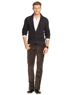 Straight Fit Corduroy Pants by Ralph Lauren Black Label in Wild