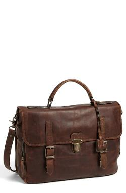 'Logan' Leather Buckle Briefcase by Frye in Laggies