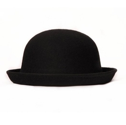 Fedora Dome Hat Roll Brim Bowler Derby Hat by Abody in Barely Lethal