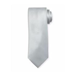 Solid Silk Satin Tie by Brioni in Billions