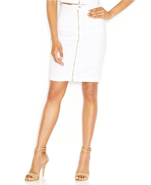Zip-Front Pencil Skirt by 7 For All Mankind in Alvin and the Chipmunks: The Road Chip