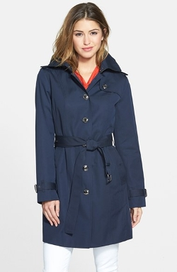 Single Breasted Hooded Trench Coat With Removable Liner by Michael Michael Kors in Before I Wake