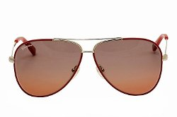 Gold Red Enamel Sunglasses by Salvatore Ferragamo in The Counselor