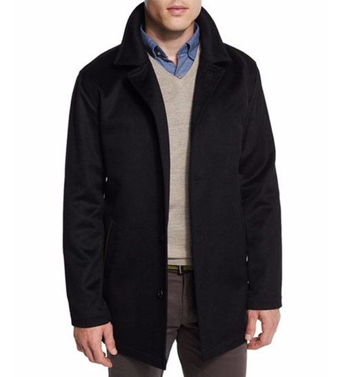 Madison Wool/Cashmere-Blend Trend-Fit Coat by Peter Millar in Live By Night