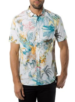 High Tide Reverse Hawaiian Print Shirt by 7 Diamonds in The Gunman