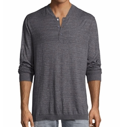 Tripp Heather Henley T-Shirt by Robert Graham in A Bad Moms Christmas