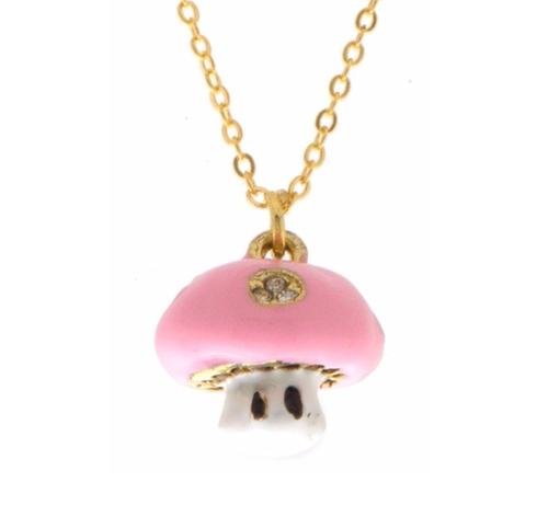 Mushroom Charm Necklace by Karmas Canvas in Chelsea - Season 1 Episode 2