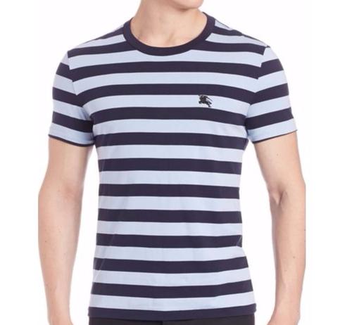 Horizontal Stripes Cotton T-Shirt by Burberry in Mr. Robot - Season 2 Episode 6