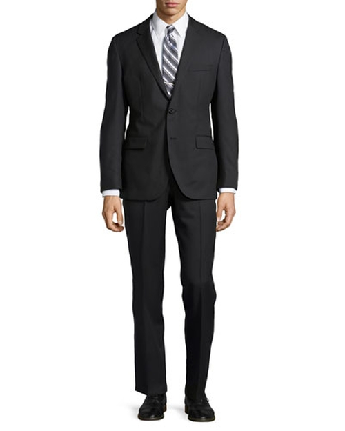 Tonal Stripe Two-Piece Suit by Hugo Boss in Bridge of Spies