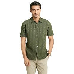 Vertical Stripe Casual Button-Down Shirt by Van Heusen in Neighbors