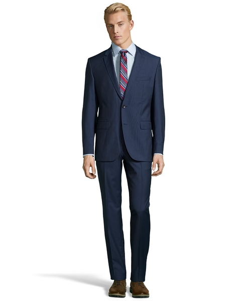 Microcheck Two Button Wool Suit by Hugo Boss in Suits - Season 5 Episode 11