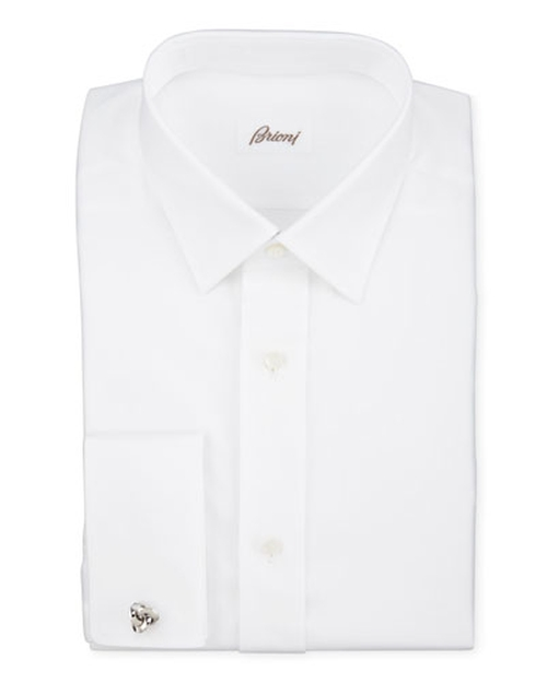 Twill French-Cuff Trim-Fit Shirt by Brioni in Demolition